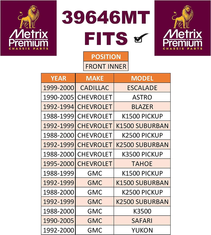 1988-1999 Chevrolet K1500 1992-2000 YUKON METRIX PREMIUM 39646MT Front Inner Tie Rod End ES2838RL For 1990-2005 GMC SAFARI Made in TURKEY 1990-2005 Chevrolet ASTRO 1995-2000 Chevy TAHOE