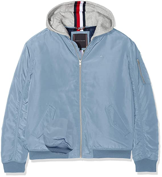 Tommy Hilfiger Boy's Essential Hooded Bomber Jacket: Amazon
