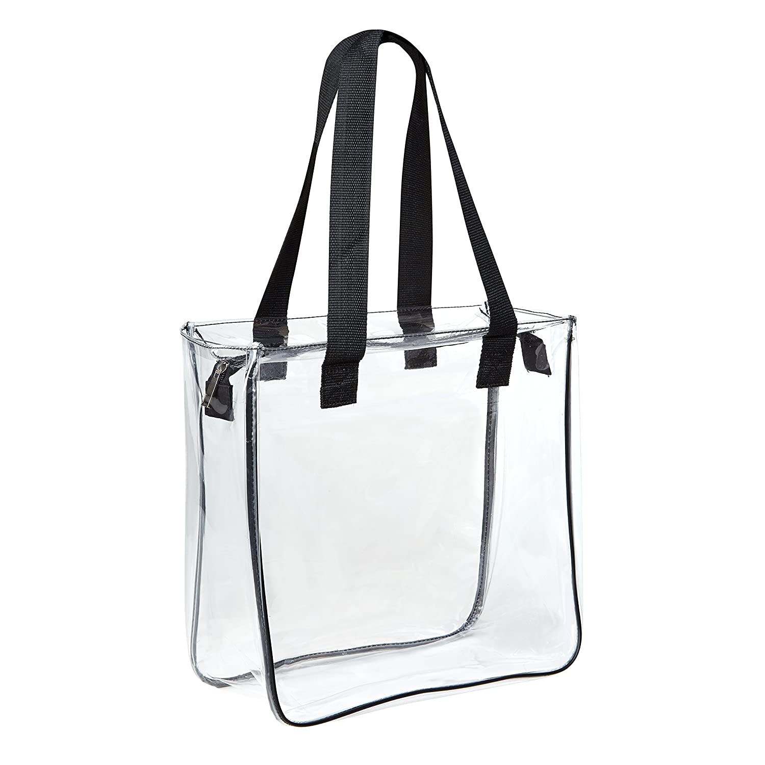 6533060d8a74 Amazon.com  Clear 12 x 12 x 6 NFL Stadium Approved Tote Bag with Black  Handles  Clothing