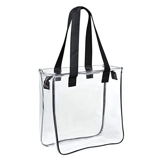 Amazon.com  Clear 12 x 12 x 6 NFL Stadium Approved Tote Bag with ... b84f80f4d578e