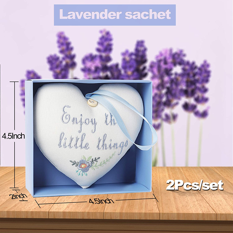 Lavender Sachets Set of 2 Scented Sachets Butterflies Dried Lavender filled Little Pillows Eco Friendly Cotton Lavender Sachets