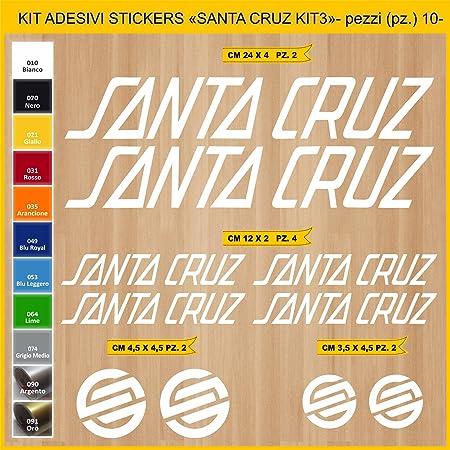 Kit Pegatinas Stickers Bicicleta Santa Cruz -Kit 3-10 Piezas- Bike Cycle Cod. 0893 (010 Bianco): Amazon.es: Deportes y aire libre