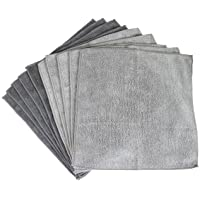 Sophisti-Clean Stainless Steel Microfiber Cloths 10pk, Soft Absorbent Non-Abrasive Cleaning Cloths, Lint Free - Streak…