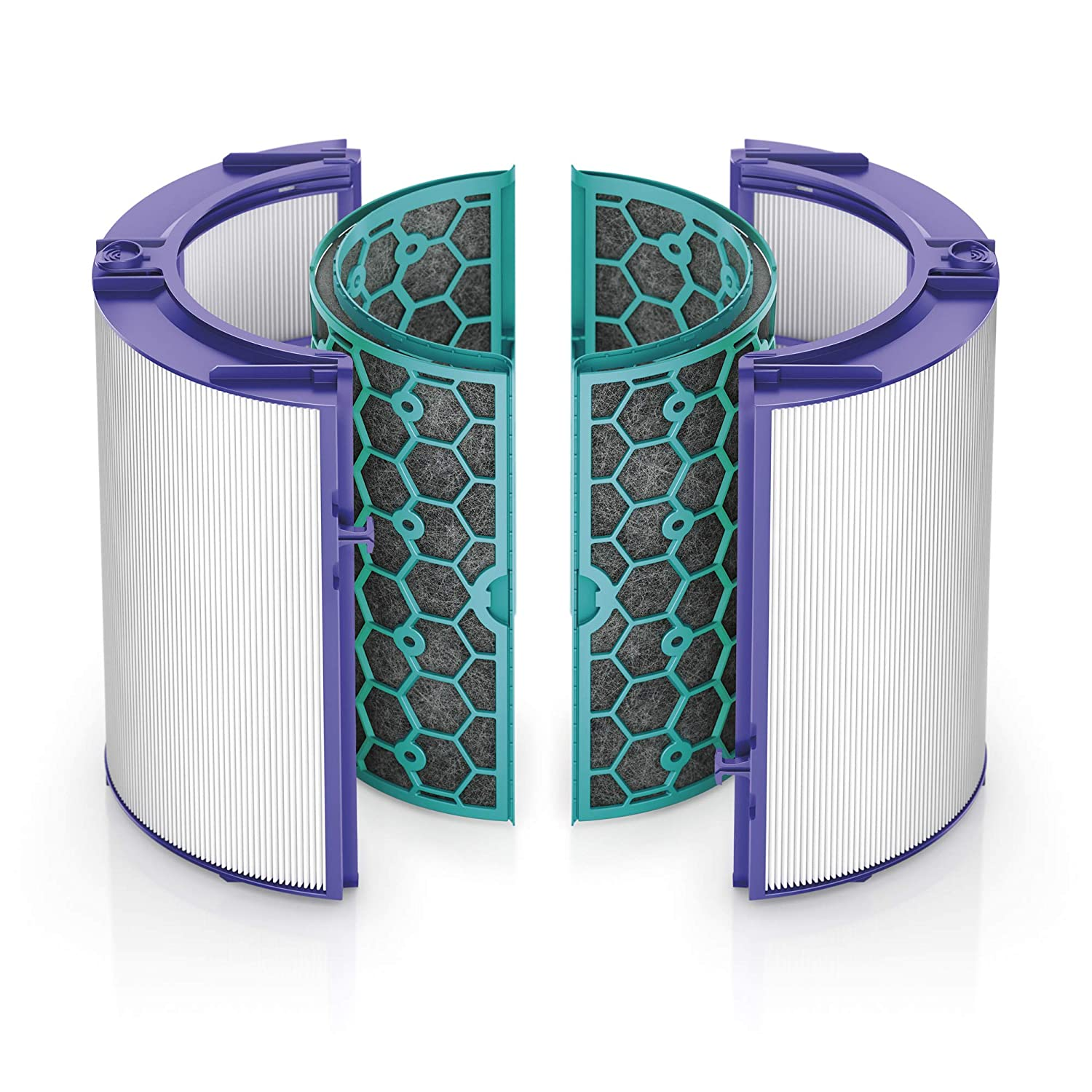 Dyson Replacement HP04 TP04 DP04 Sealed Two Stage 360 Filter System, Purple Teal