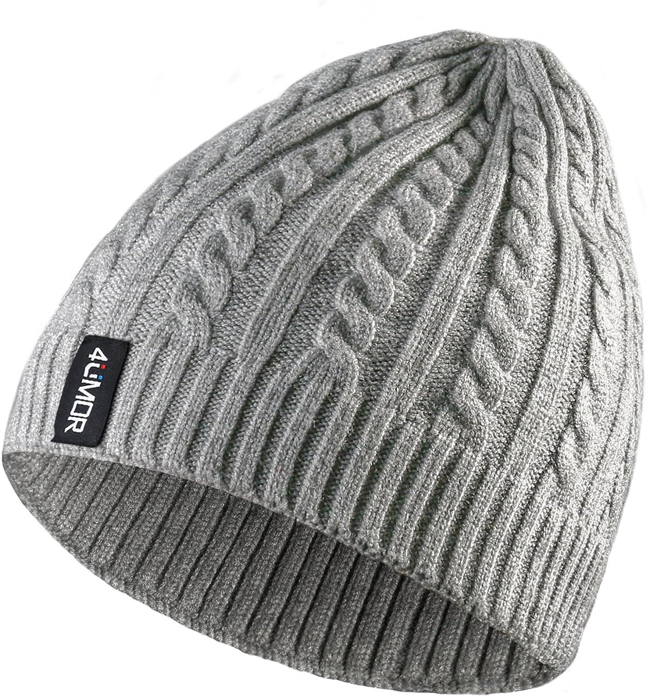 4UMOR Beanie Knit Hats Winter Warm Outdoor, para Viajes/Senderismo/Camping/Pesca/Ciclismo/Esquí, Se Adapta a la Juventud/Pareja, Negro/Gris, Talla Única, Unisex: Amazon.es: Ropa y accesorios