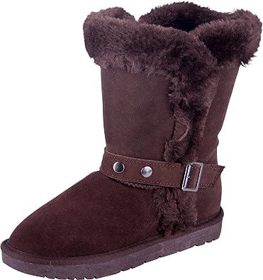 quality design 3c871 24758 Almwerk Damen Winter-Stiefel Boots Schlupf-Stiefel aus Echtleder warm  gefüttert in verscheidenen Farben