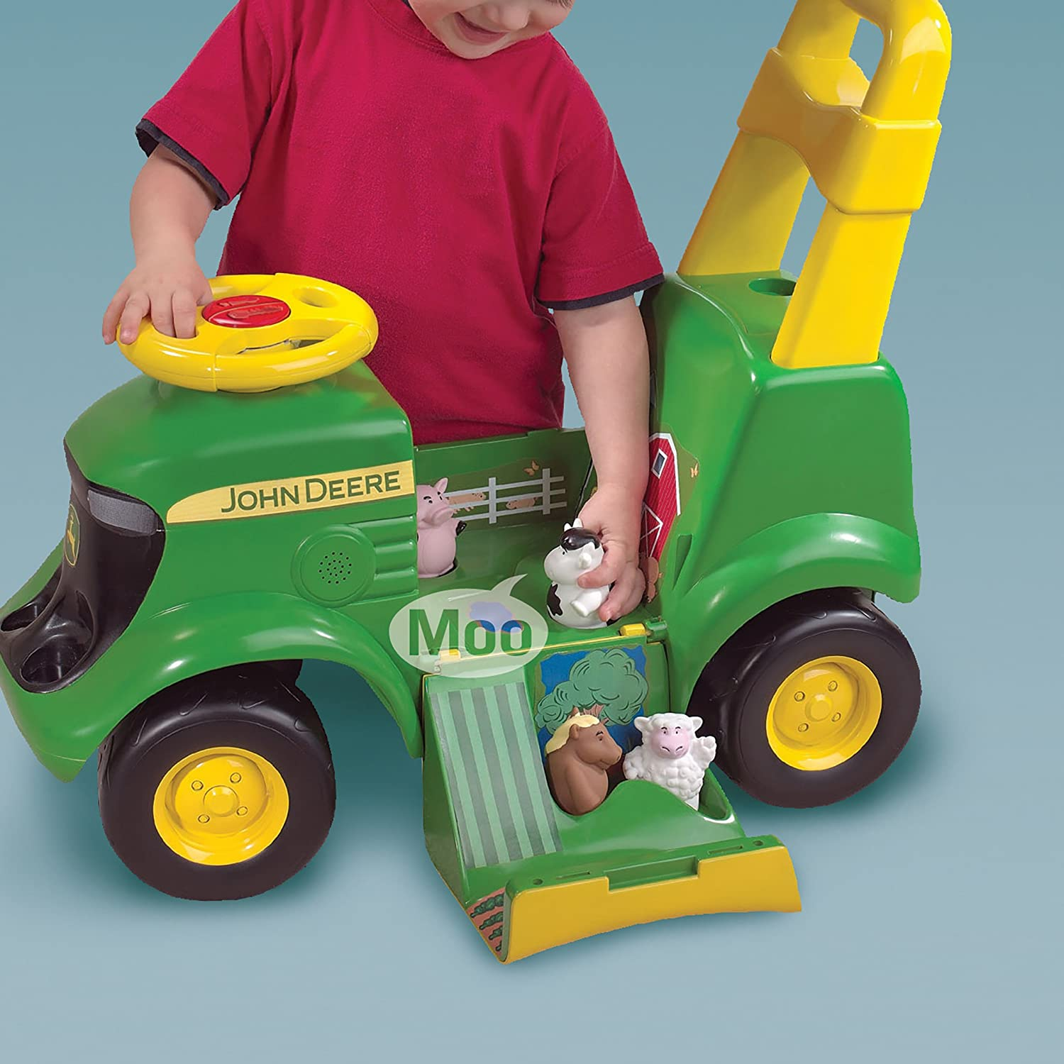 Amazon John Deere Sit N Scoot Activity Tractor Toys & Games