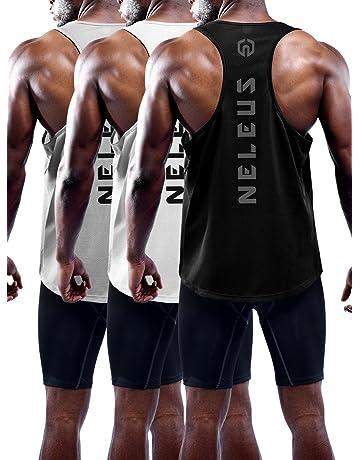 eed4d86d324783 Neleus Men s 3 Pack Dry Fit Y-Back Muscle Tank Top