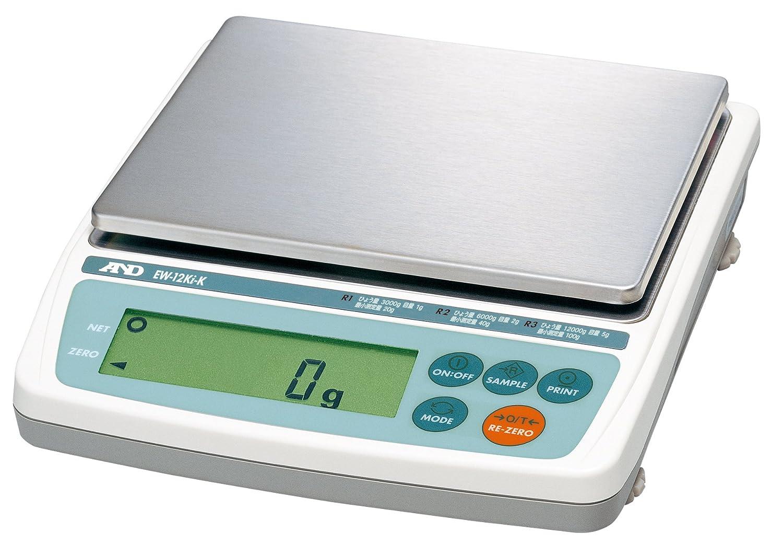 A&D 検定付き トリプルレンジパーソナル天びん EW-12Ki-K ひょう量:12000g 最小表示:1~5g(使用範囲:20~12000g) 皿寸法:170(W)*133(D) mm 検定付:8地域 B005GDW4WI 使用地域区分:8区