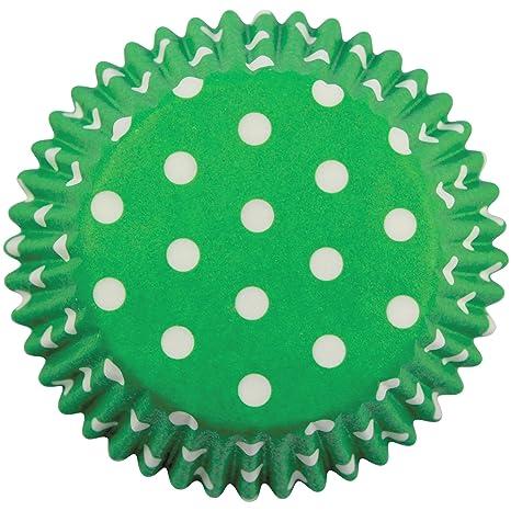 PME Estuches de Papel de Lunares Verdes para Hornear ...