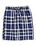 TINFL Youth Boys Plaid Cotton Sleep Lounge Shorts