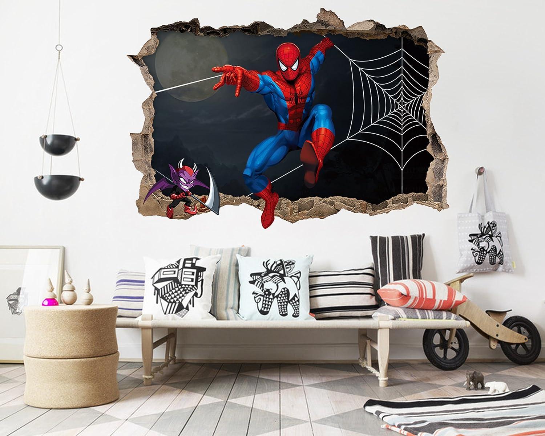 3D スパイダーマン漫画 66 ウォールステッカー 壁の装飾 壁紙 壁画 三次元 突破口 世帯 ホームインテリアフォト Carly (250*150cm) B079GW5165 250*150cm 250*150cm