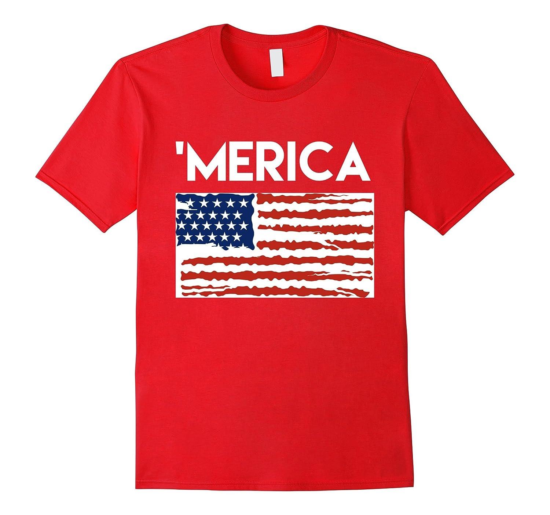 'Merica TShirt (with Flag) - Awesome 4th of July TShirts-TH