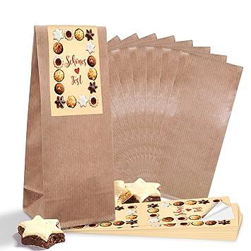 10 marrón bloque de suelo Bolsa con Pergamino de alfombrilla de (7 x 4 x