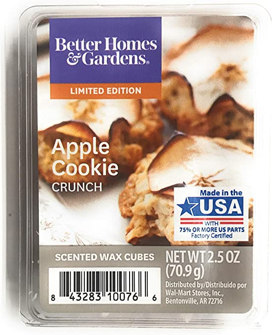 2 Packs Delicious Vanilla Cookie Crunch Scented Wax Cubes Better Home Gardens 2.5 oz each Two