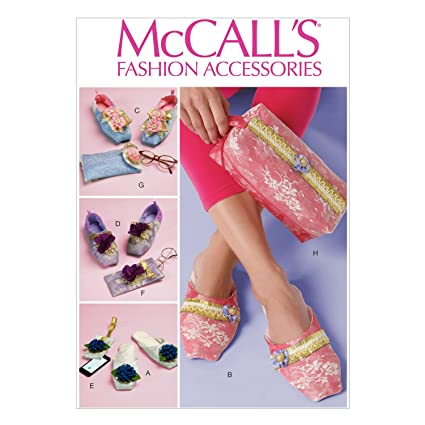 Amazon.com: McCall Pattern Company M7068 Slippers and Cases Sewing ...