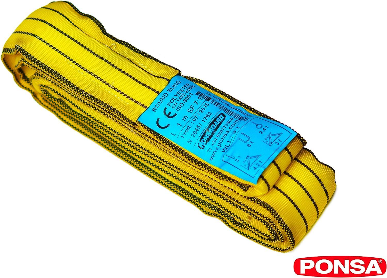 Gaine polyester Puissance 3000 kg//2 m Braun 30021RS Cble de traction Jaune