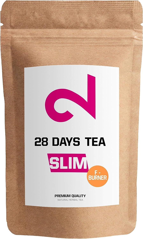 DUAL 28 Days Fat-Burner Tea| Té Quemador de Grasa para Pérdida de Peso | Té desintoxicante | Infusión de Dieta y Para Bajar de Peso|Té Limpiador|Suplemento Dietético Natural|Hecho en Alemania|85g