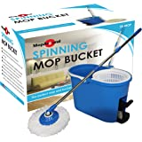 MopAround Spinning-Mop and Bucket System, Complete Swivel Rotating Magic-Mop/2-Heads