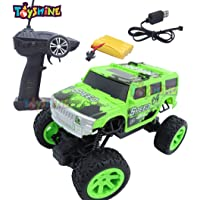Toyshine Challenger RC Cars Off-Road Rock Crawler Truck Vehicle 2.4Ghz 2WD 1: 20 Radio Remote Control Cars Electric Fast Racing Buggy Hobby Car, Green