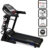 Fitkit Unisex Adult FT063 7 in 1 Auto Incline Motorized Multi Functional Treadmill - Black, Medium