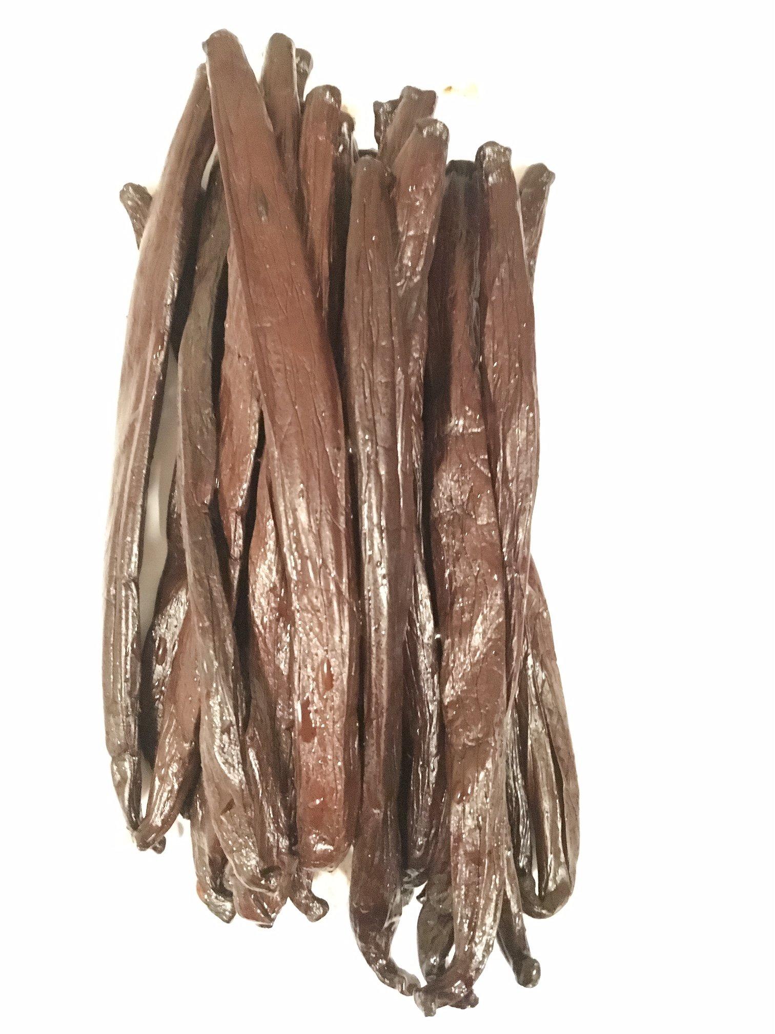 Tahitian Vanilla Beans by Slofoodgroup, Grade A Tahitian Vanilla Beans (Vanilla Tahitensis), Gourmet Tahitian Vanilla Beans Grown in Tahiti (.5 lb, 8 oz)