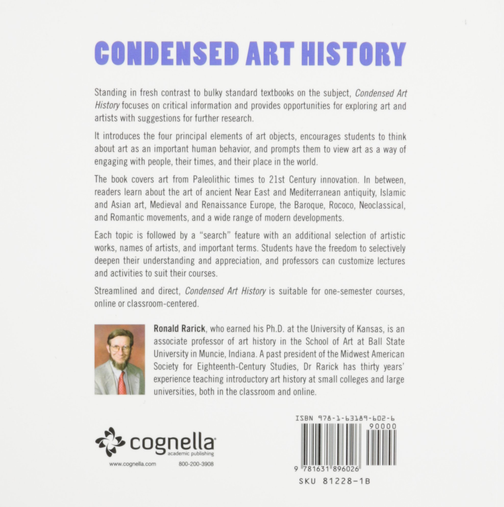 condensed art history first edition ronald rarick condensed art history first edition ronald rarick 9781631896026 com books