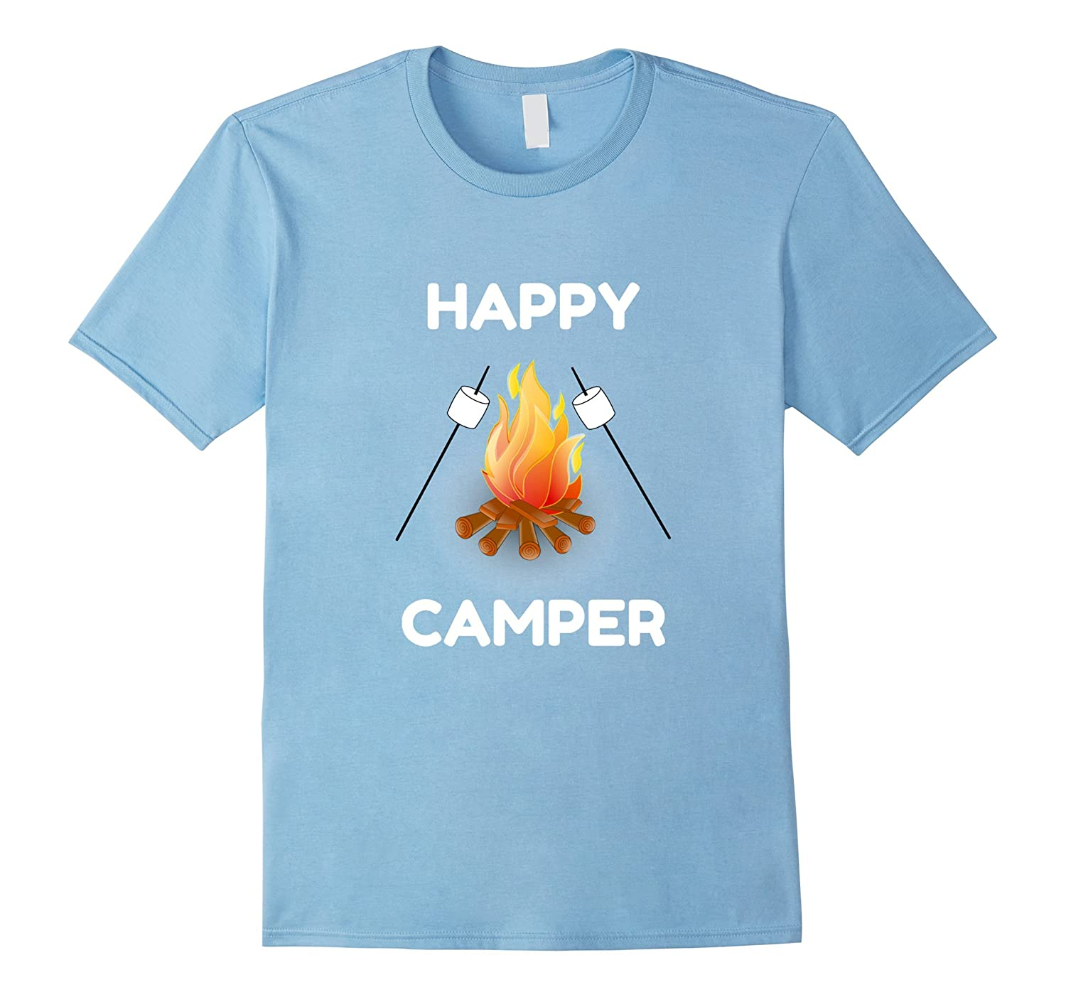 Happy Camper T Shirt Kids Women Men Smores Campfire Tshirt PL