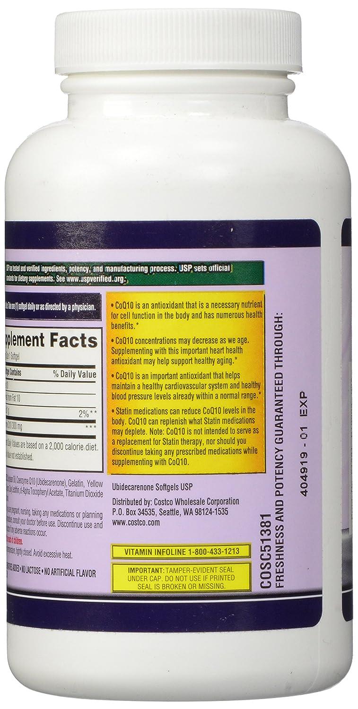Kirkland Signature COQ10 100 Softgels, 300 mg, 6.4 Ounce