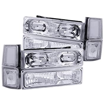 81lN6yoMloL._SY355_ amazon com anzo usa 111101 chevrolet crystal halo clear with  at bayanpartner.co