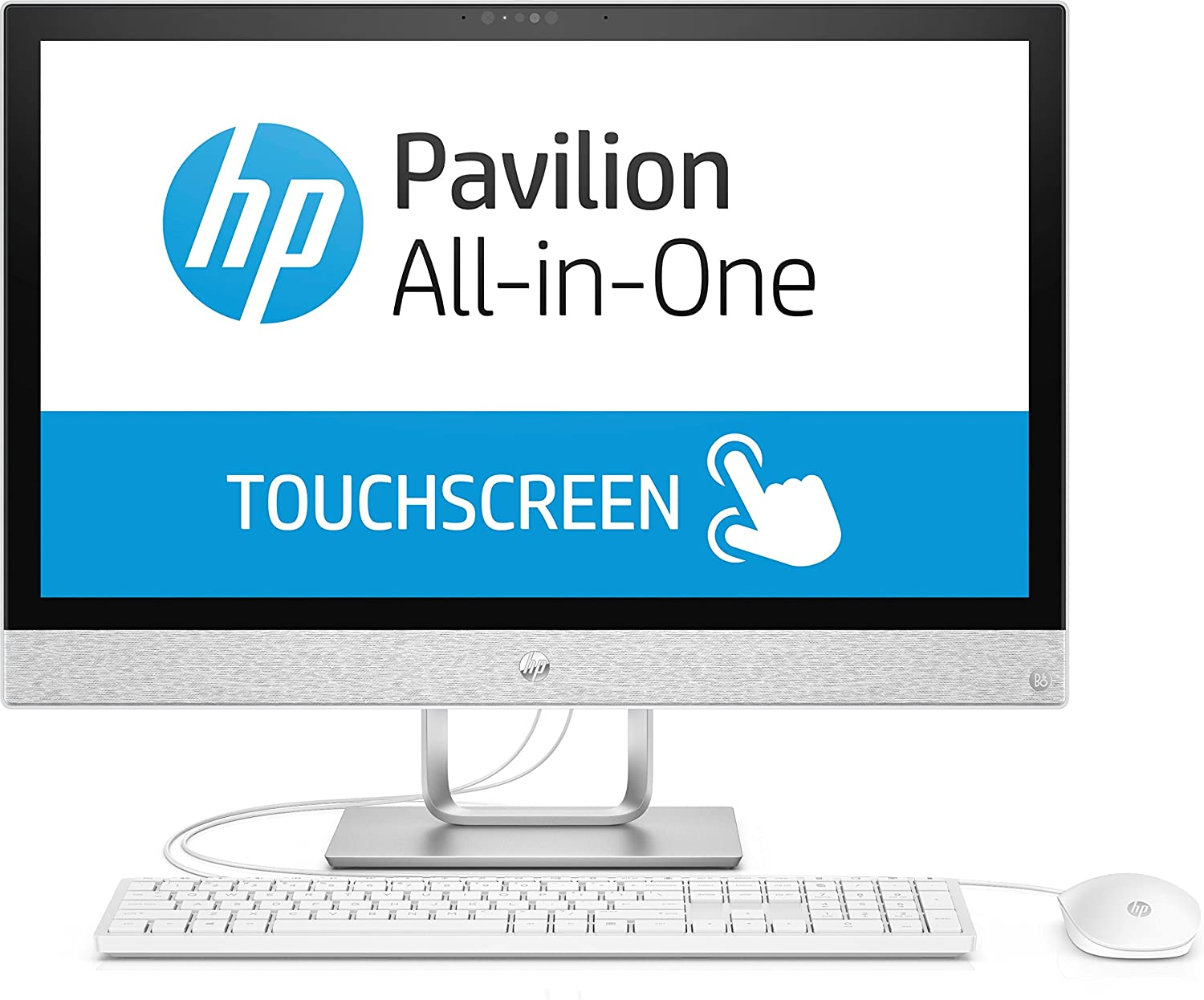 HP Pavilion 24-r163ng 1.7GHz i5-8400T Intel® Core™ i5 di ottava generazione 23.8' 1920 x 1080Pixel Touch screen Bianco PC All-in-one 4CM34EA#ABD