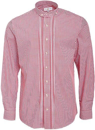 Almsach Camisa de cuello alto para hombre, corte normal ...
