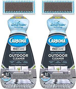 Carbona Pro Care 2-in-1 Oxy Powered Outdoor Cleaner with Active Foam Technology   22 Fl Oz, 2 Pack