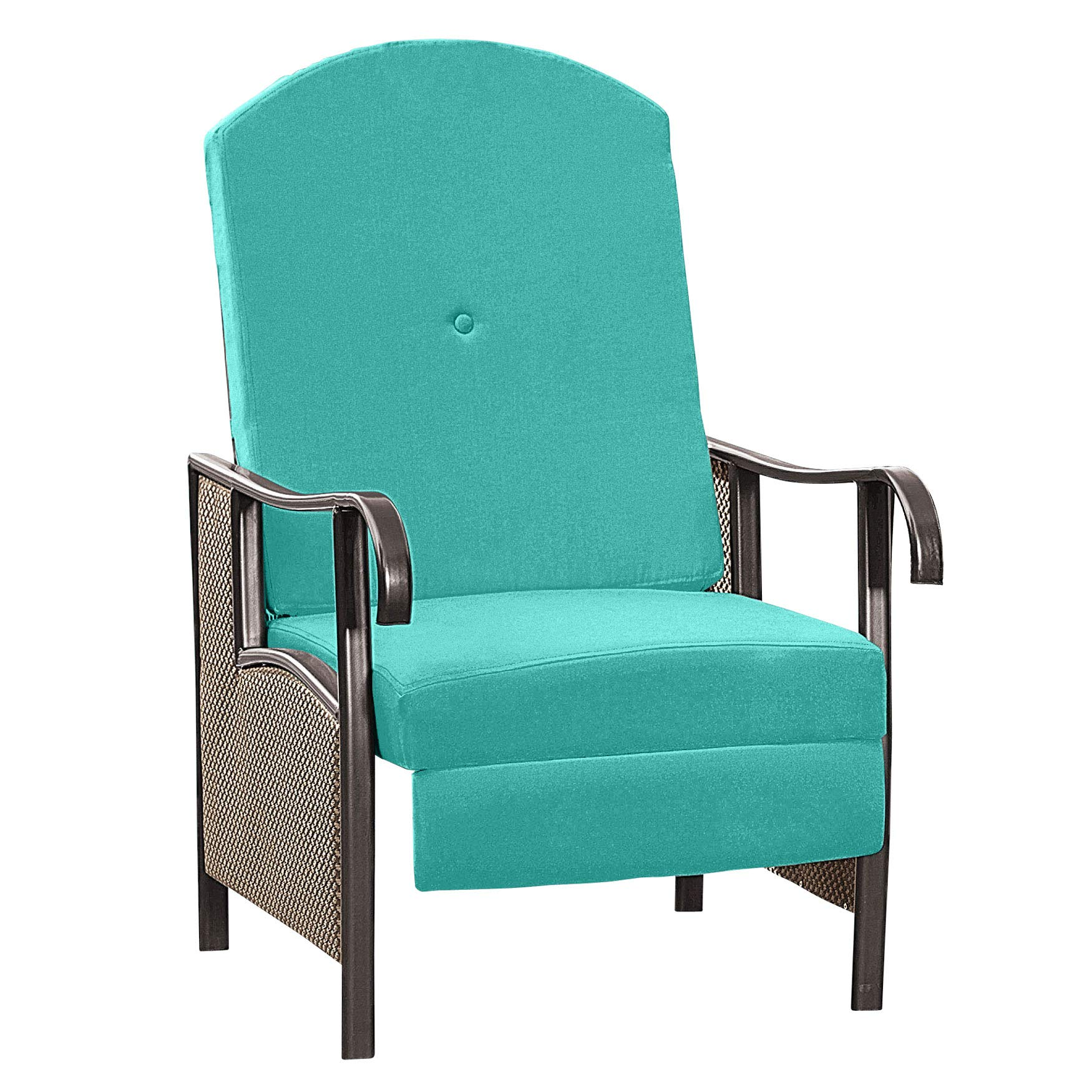 BrylaneHome Extra Wide Outdoor Recliner with Cushion - Breeze