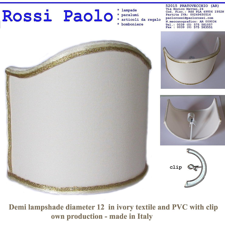 Paralume mezzo tondo ventola vela in tessuto - produzione propria - made in Italy (cm 10) Paolo Rossi