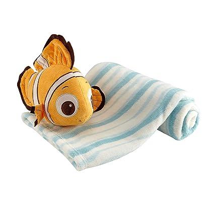 Disney Buscando a Nemo de peluche y manta, azul