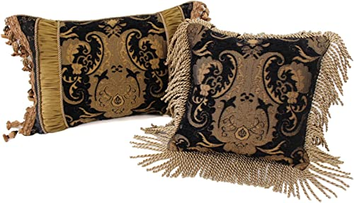 Sherry Kline China Art Black Luxury Pillows Set of 2