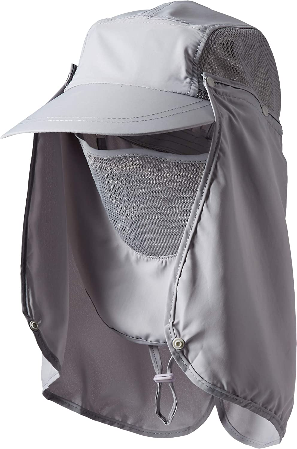 YINGEE Outdoor Fishing Hat, 360 UV Sunscreen Sun Hat Removable Neck And Mask Cap, Solar Protection UPF 50 Outdoor Garden, Fishing Outdoor Activities