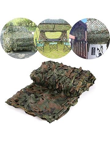 Red de Camuflaje Mallas de Protección Ejército Combate Militar Táctico para Caza Bosque Campo al Aire