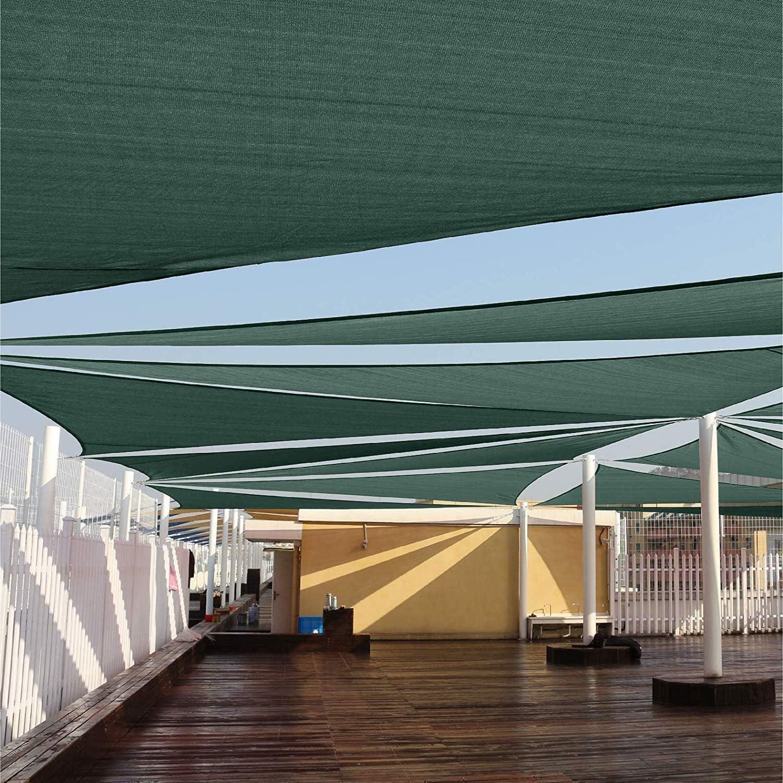 SUNDUXY Rojo Toldo Vela de Sombra Triangular, 95% de protección ...