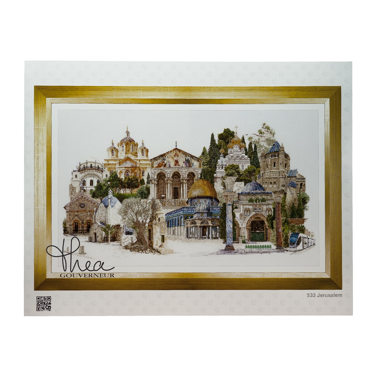 Thea Gouverneur 533A Jerusalem on 18 Count Aida, Counted Cross Stitch Kit, 31.1-Inch-by-13.8-Inch by Thea Gouverneur B00H56B8P8