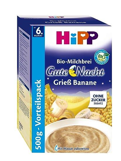 Hipp buenas noches papilla de plátano 500 g de sémola, 4-pack (4