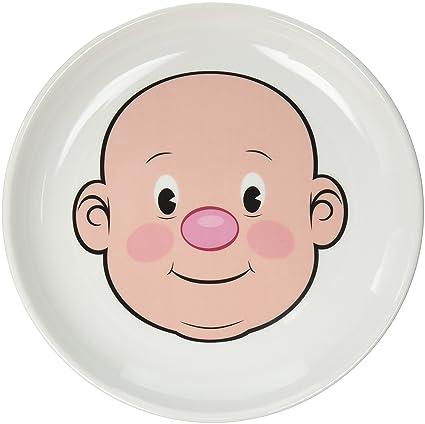 Amazoncom Fred Mr Food Face Kids Ceramic Dinner Plate Plates