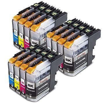 Cartuchos de impresora de Alaskaprint compatibles con Brother LC223xl LC-223 LC223 LC-225 LC-227 xl (negro, cian, magenta, amarillo), color 12er Set