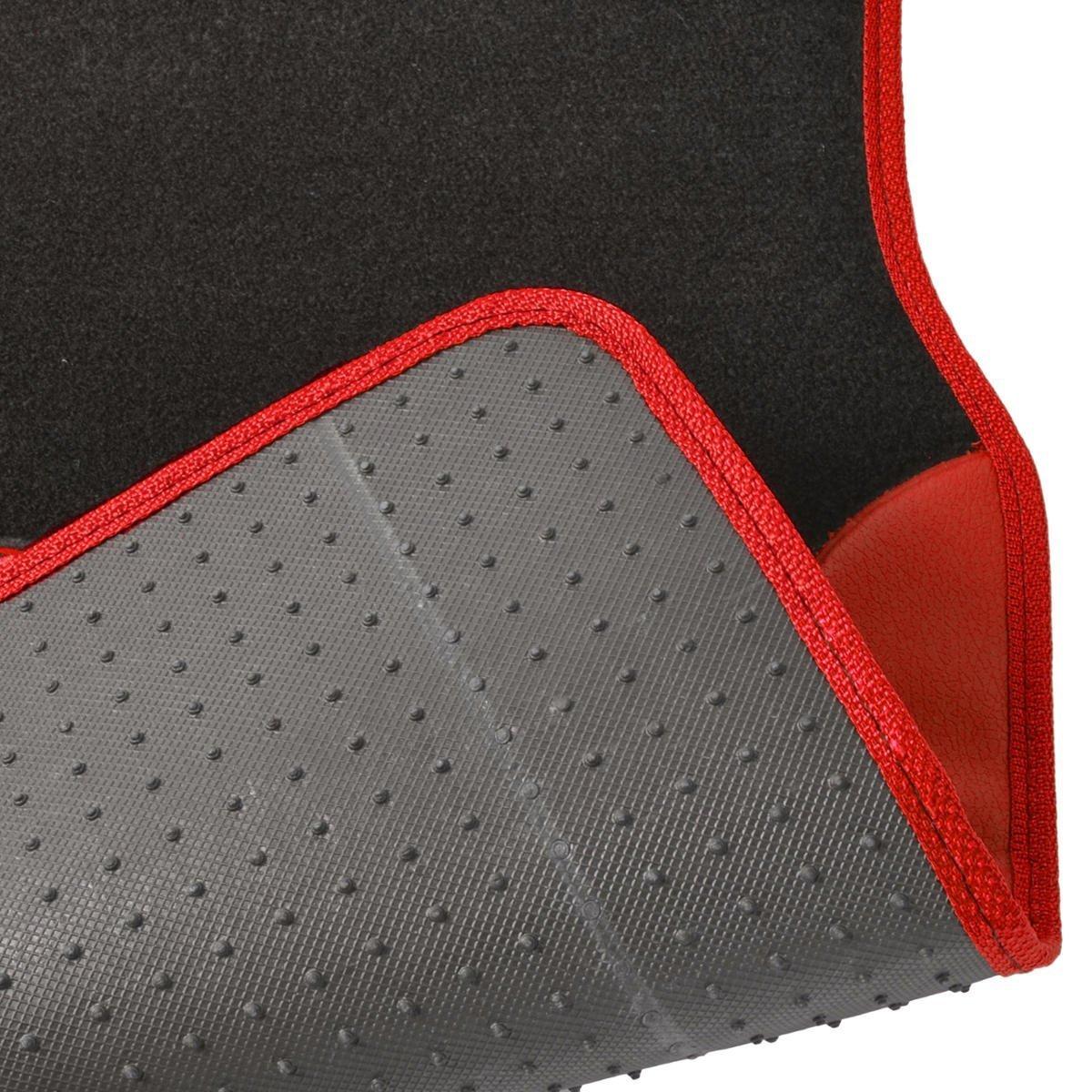 Blue A Set of 4 Universal Fit Plush Carpet with Vinyl Trim Floor Mats For Cars//Trucks