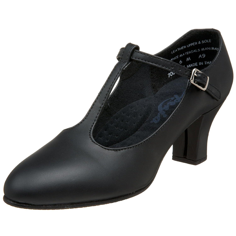 Capezio Women's 700 T-Strap Character Shoe B002COHNAC 7 W US|Black