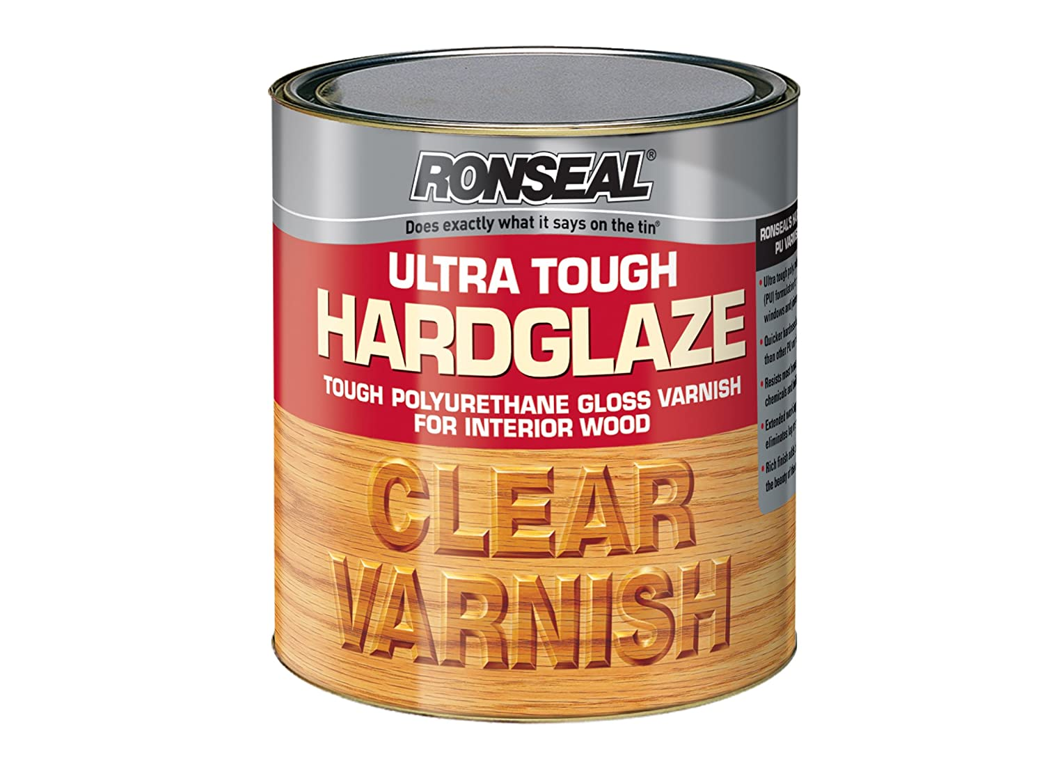 Ronseal UTVHG750 750ml Ultra Tough Hardglaze Internal Clear Gloss Varnish RSLUTVHG750