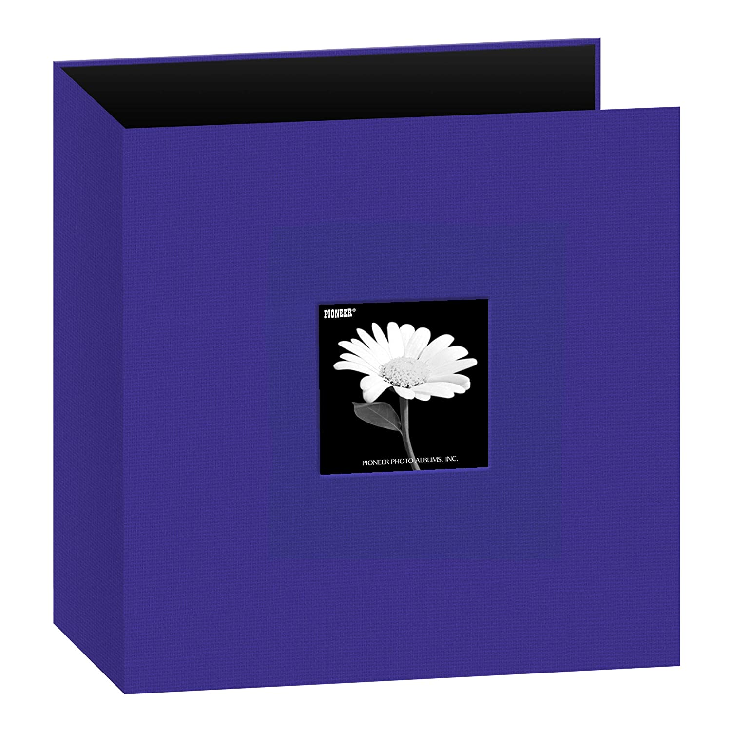 Pioneer Photo Albums T-811CBFBL 8 1/2 x 11-Inch 3-Ring Fabric Frame Cover Memory Binder, Cobalt Blue