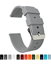 Barton Silicone Watch Bands - Quick Release Straps - Choose Color & Width - 16mm, 18mm, 20mm, 22mm or 24mm - Soft Rubber