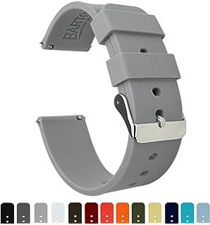 Barton Silicone Quick Release - Las Correas de Reloj de Goma Ligera de 20mm Guay Gris